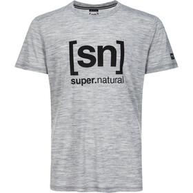 super.natural Essential I.D. T-Shirt Herren ash melange/print